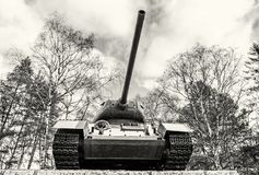 Radziecki zbiornik T-34 druga wojna światowa, Kezmarok, Sistani, colorl Fotografia Stock