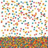 Radzieckich Round confetti okregów Mały Spadać Zdjęcie Stock