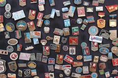 Radzieckie odznaki Fotografia Royalty Free