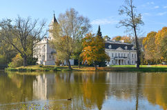 Radziejowice Palace (Poland). Representative building was founded in the fifteenth century. Was rebuilt several times. The present palace dates from the late Stock Photo