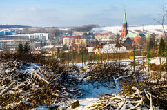 Radzionkow. Winter overview of Radzionkow town. Silesia Poland Royalty Free Stock Photos