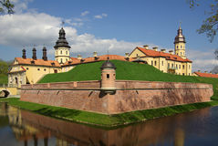 Radziwill castle in Nesvizh, Belarus Stock Images
