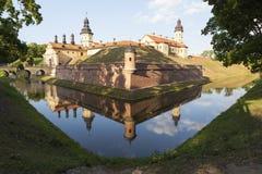 Radziwill slott i Nesvizh, Vitryssland Royaltyfria Bilder