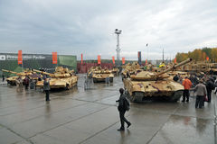 RAE-2013. IZHNY TAGIL, RUSSIA - SEP 26, 2013: The international exhibition of armament, military equipment and ammunition RUSSIA ARMS EXPO (RAE-2013 Royalty Free Stock Images