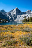 Rae Lakes basin on the John Muir Trail in Kings Canyon Nation Park Stock Image