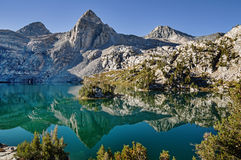 Rae Lakes Reflection Stockbilder