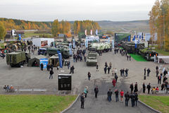 RAE-2013. NIZHNY TAGIL, RUSSIA - SEP 25, 2013: The international exhibition of armament, military equipment and ammunition RUSSIA ARMS EXPO (RAE-2013 Stock Images
