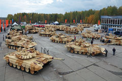 RAE-2013. NIZHNY TAGIL, RUSSIA - SEP 24, 2013: The international exhibition of armament, military equipment and ammunition RUSSIA ARMS EXPO (RAE-2013 Royalty Free Stock Photos