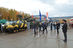 RAE-2013. NIZHNY TAGIL, RUSSIA - SEP 26, 2013: The international exhibition of armament, military equipment and ammunition RUSSIA ARMS EXPO (RAE-2013 Royalty Free Stock Image