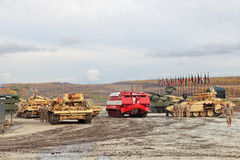 RAE-2013. NIZHNY TAGIL, RUSSIA - SEP 26, 2013: The international exhibition of armament, military equipment and ammunition RUSSIA ARMS EXPO (RAE-2013 Royalty Free Stock Photo