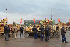 RAE-2013. NIZHNY TAGIL, RUSSIA - SEP 26, 2013: The international exhibition of armament, military equipment and ammunition RUSSIA ARMS EXPO (RAE-2013 Stock Images
