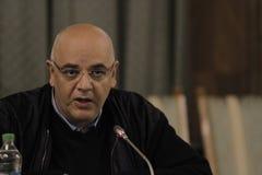 Raed Arafat, sekretarka stan przy ministerstwem sprawy wewnętrznej konferencja prasowa zdjęcie stock