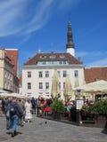 Raekoja plats à Tallinn Images libres de droits