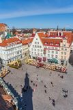 Raekoja plats kwadrat w centrum stary Tallinn obrazy royalty free