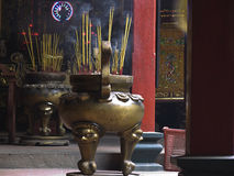 Raeucherstaebchen. Incense sick in a pagoda in Saigon,Vietnam Royalty Free Stock Photo