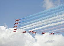 RAF κόκκινα βέλη Στοκ φωτογραφία με δικαίωμα ελεύθερης χρήσης
