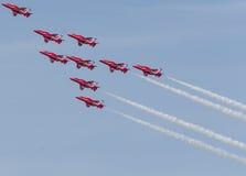 RAF κόκκινη ομάδα βελών Στοκ Φωτογραφίες