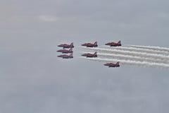 RAF κόκκινη ομάδα επίδειξης βελών Στοκ Φωτογραφίες