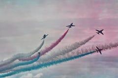 RAF κόκκινη ομάδα επίδειξης βελών Στοκ Εικόνες