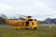 RAF ελικόπτερο βασιλιάδων θάλασσας Στοκ φωτογραφίες με δικαίωμα ελεύθερης χρήσης