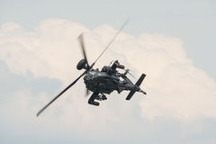 A RAF Apache attack helicopter in flight Stock Photo