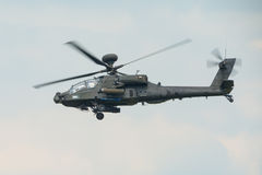 A RAF Apache attack helicopter in flight Royalty Free Stock Image