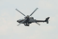A RAF Apache attack helicopter in flight Stock Photography