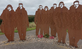 RAF Bomber Command memorial at RAF Lissett, Lincolnshire Stock Photography