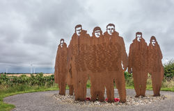 RAF Bomber Command memorial at RAF Lissett, Lincolnshire Stock Image