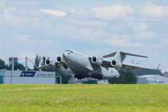 RAF C-17A in Prague Royalty Free Stock Photography