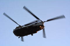 RAF Chinook HC4 fly over London, UK Royalty Free Stock Image
