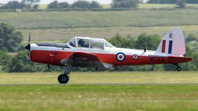 RAF Chipmunk training aircraft. Performing at RAF Cosford stock images