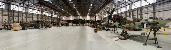 RAF Coningsby Battle del hangar conmemorativo del vuelo de Gran Bretaña imagen de archivo libre de regalías