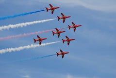 RAF Czerwone strzały, Hastings fotografia stock