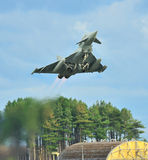 RAF Eurofighter Typhoon. Taking off royalty free stock images