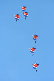 RAF Falcons. Parachute team display Performing at the Eastbourne airshow in Sussex England Stock Images