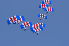 RAF Falcons Parachute Team Royalty Free Stock Photo