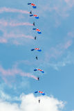 RAF Falcons parachute team Royalty Free Stock Photography