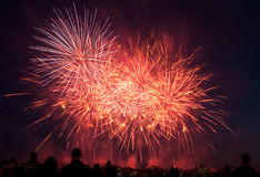 RAF Feltwell USAF Fireworks show Royalty Free Stock Photos