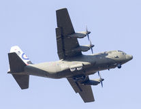 RAF Hercules in den 50. Jahrestags-Markierungen Lizenzfreies Stockbild