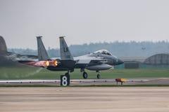 RAF Lakenheath F-15 U.S.A.F. spritzen lizenzfreies stockfoto