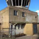 RAF mamby , lincolnshire. Cold war control tower, raf mamby, Lincolnshire, bomber station stock photos