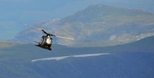 RAF Merlin Helicopter. A RAF Merlin Helicopter in the mountains stock photo