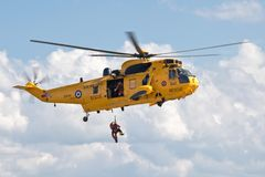 RAF military rescue Sea King Royalty Free Stock Photo