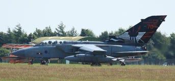 RAF Panavia Tornado prepares for takeoff Royalty Free Stock Images
