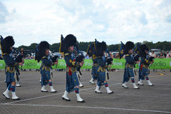 RAF Pipes and Drums Stock Photography