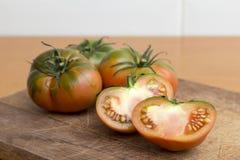 Raf pomidory, sałatek zielenie Zdjęcie Stock