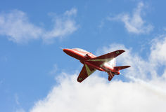 RAF Red Arrow aerobatic flight show in Tallinn, Estonia royalty free stock photography
