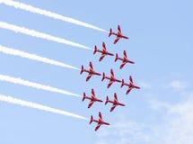 RAF Red Arrow aerobatic show in Tallinn, Estonia Stock Image