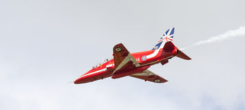 RAF Red Arrow aerobatic show in Tallinn, Estonia Stock Photos